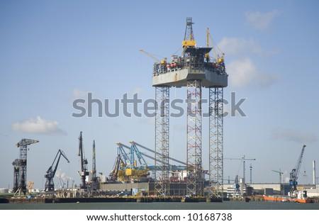 Oil rig 2 - stock photo
