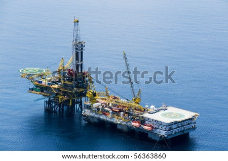 Oil Rig 1 - stock photo