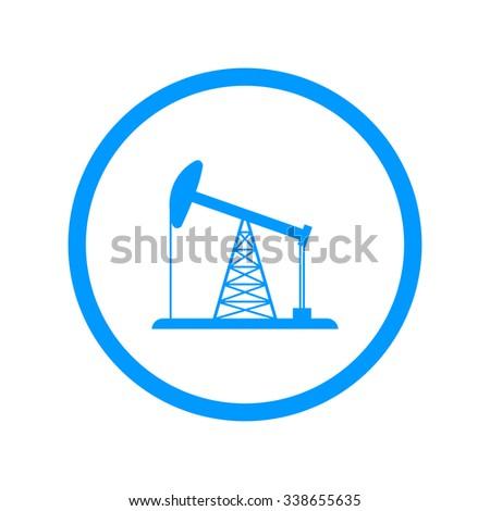 Oil Rig Icon. Flat design style  - stock photo
