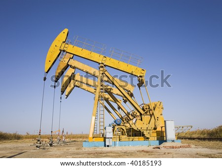 oil rigs - stock photo