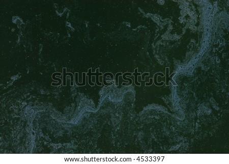 Oil Slick on water grunge background pattern series 01 - stock photo