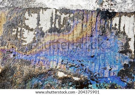 oil spill - stock photo