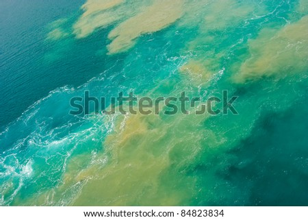 Oil spill - stock photo