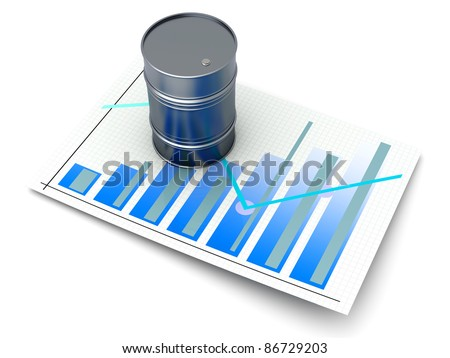 Oil statistics and analytics. 3D rendered illustration. - stock photo