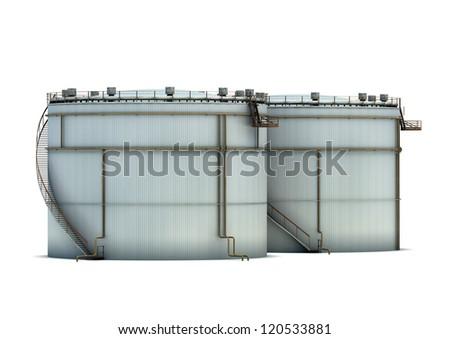 Oil storage - stock photo