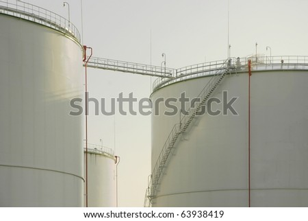 Oil storage tanks - Paldiski, Estonia - stock photo