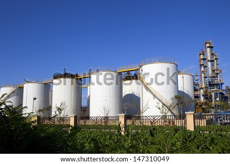 Oil tank - stock photo