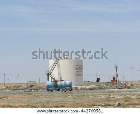 Oil tank - stock photo