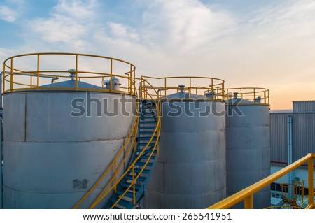 Oil Tank Factory plant. - stock photo