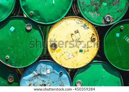 Oil Tank Old Grunge Dirt Feeling Danger of Industrial Chemical.