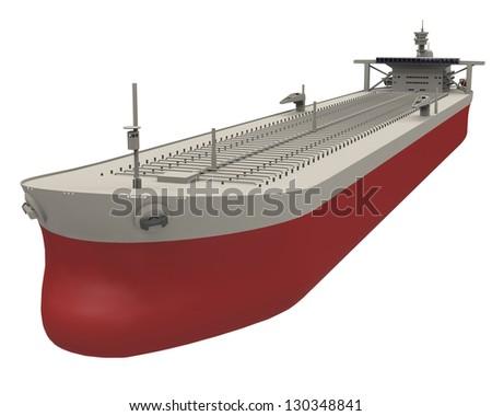 Oil tanker empty - stock photo