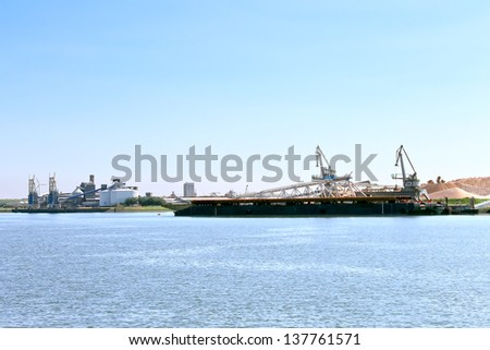 Oil terminal in the Dutch port. Netherlands