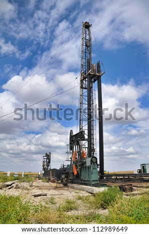 Oil tower - stock photo