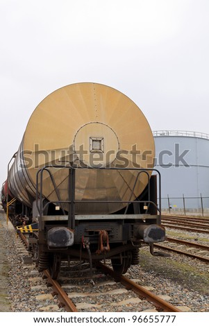 oil train wagons