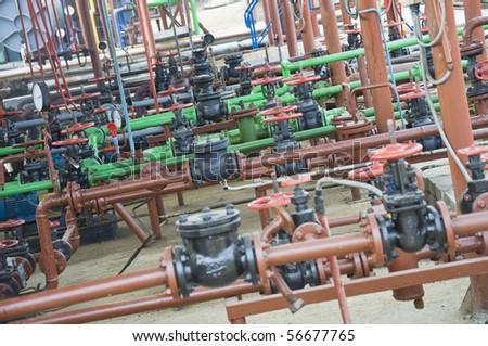 Oil tubes - stock photo