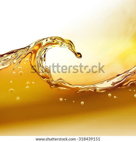 Oil wave on a light background - stock photo