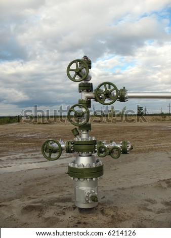 Oil well in wes Siberia. - stock photo