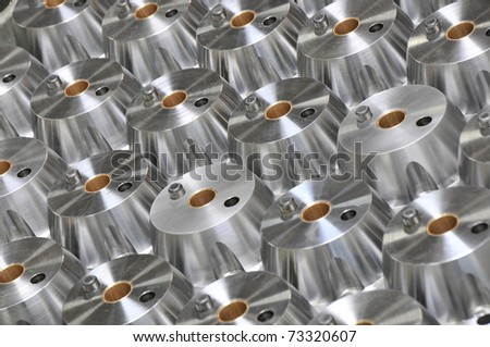Oil well valve component graphic group shot - stock photo