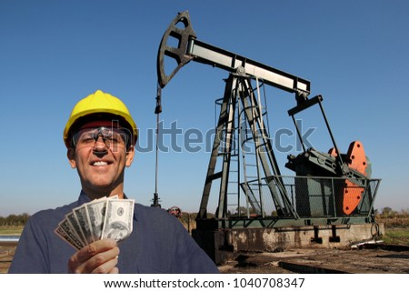 Oil Worker Petroleum Engineer Holding Us Stock Photo Royalty Free