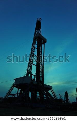 Oilfield drill - stock photo