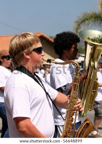 OJAI, CA - JULY 3 : Annual 4th of July parade in Ojai one day early this year July 3, 2010 in Ojai, CA. - stock photo