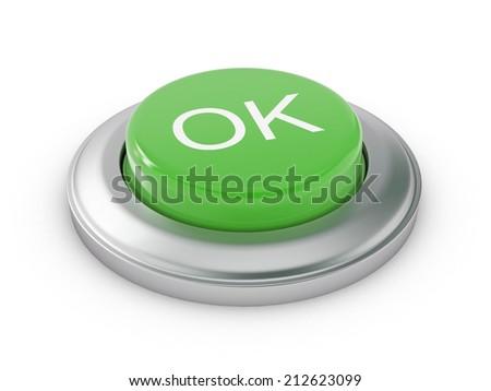 OK Button - stock photo