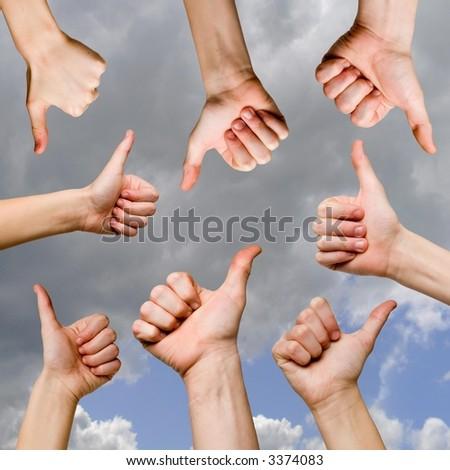 ok gestures - stock photo