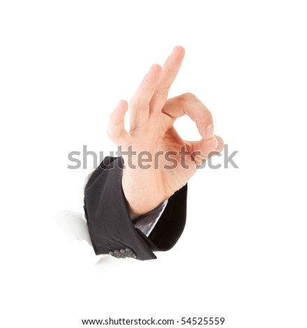 Ok  Hand Sign - stock photo
