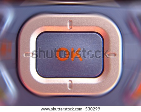 OK in motion - stock photo