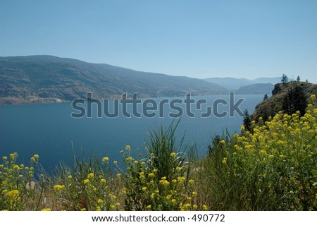 Okanagan Lake - stock photo