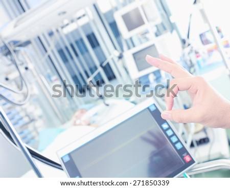 Okay doctor hand successful treatment - stock photo