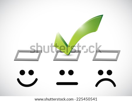 okay face selection illustration design over a white background - stock photo