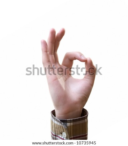 okay gesture - stock photo