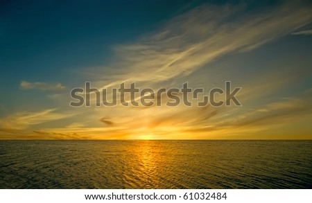 okezakat against the background of the ocean - stock photo