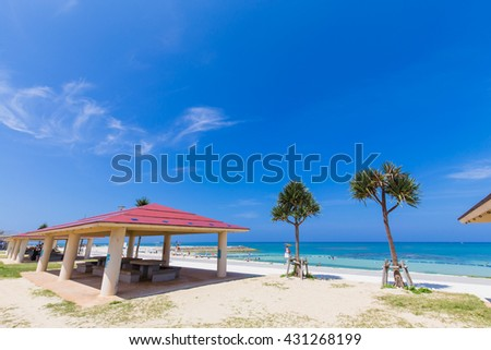 Okinawa beach and blue sky