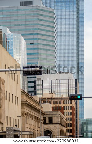 okla oklahoma city skyline - stock photo