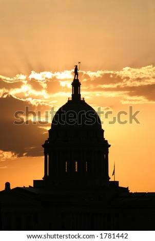 Oklahoma Capital - stock photo