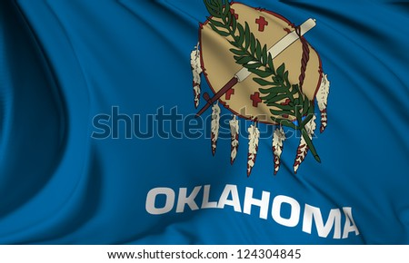 Oklahoma flag - USA state flags collection no_3 - stock photo