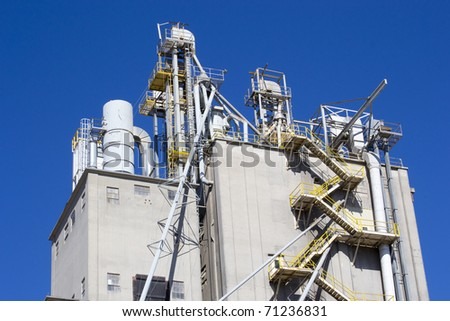 Oklahoma Grain Tower - stock photo