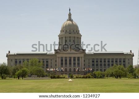 Oklahoma State Capitol, Oklahoma City, OK - stock photo