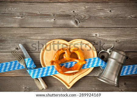 Oktoberfest beer festival template background - stock photo