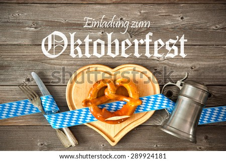 Oktoberfest beer festival template background. Invitation to the Oktoberfest - stock photo