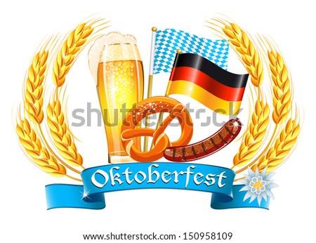 Oktoberfest celebration design - stock photo