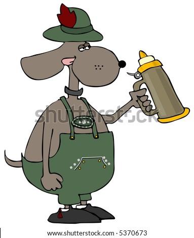 Oktoberfest Dog - stock photo