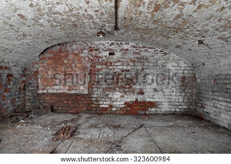 Old abandoned cellar with brick walls and vaulted ceiling - underground & Old Abandoned Cellar Brick Walls Vaulted Stock Photo (Royalty Free ...