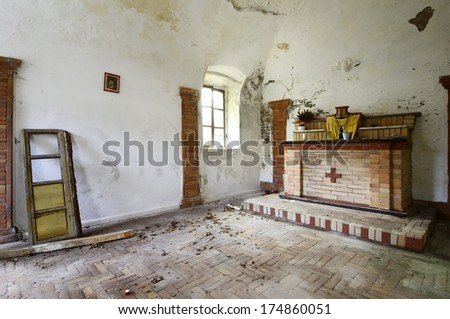 old abandoned chapel