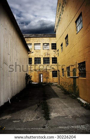 Old abandoned factory. - stock photo