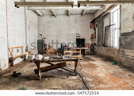 Old Abandoned Factory Floor