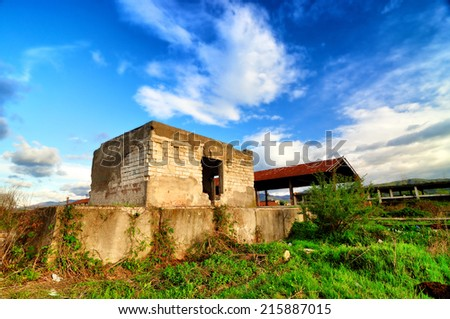 Old abandoned house - stock photo