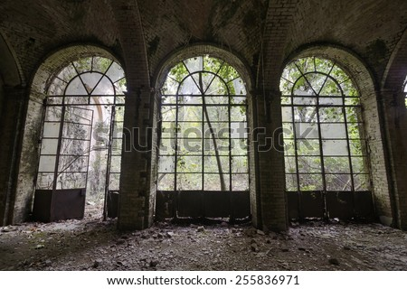 Old abandoned Orangery - stock photo